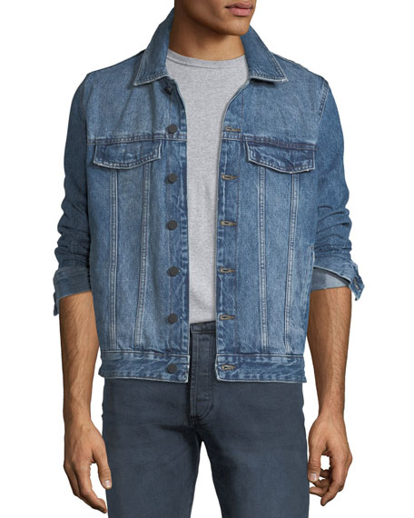 DL 1961 Men's Vaughn Denim Trucker Jacket, Collapse