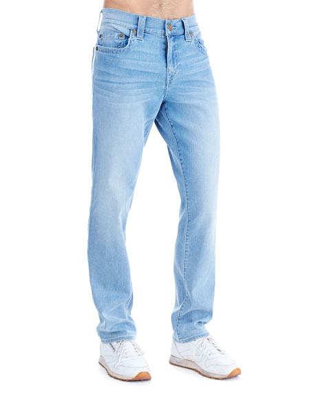 Men's Geno Light-Wash Straight-Leg Jeans