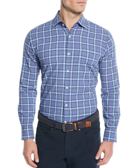 Peter Millar Men's Fisherman's Wharf Plaid Sport Shirt