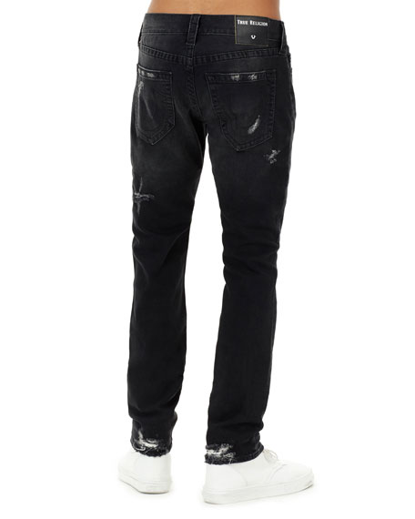 Men's Rocco Distressed Skinny Jeans, Black