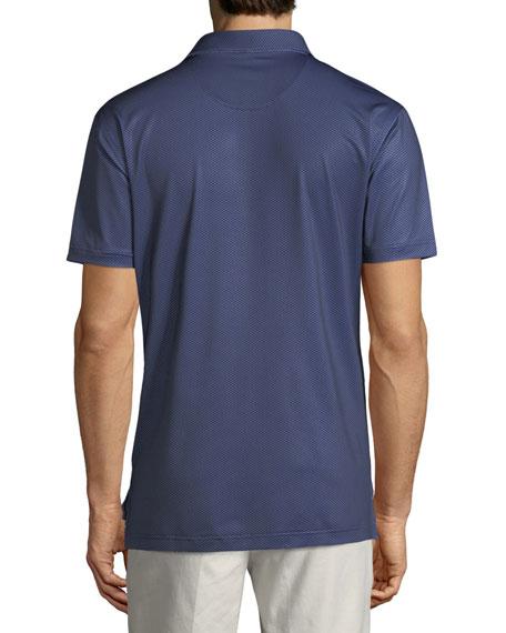 Men's Geo Star Neat-Print Stretch Jersey Polo Shirt