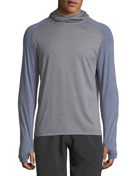 Peter Millar Men's Rome Technical Long-Sleeve Hooded T-Shirt