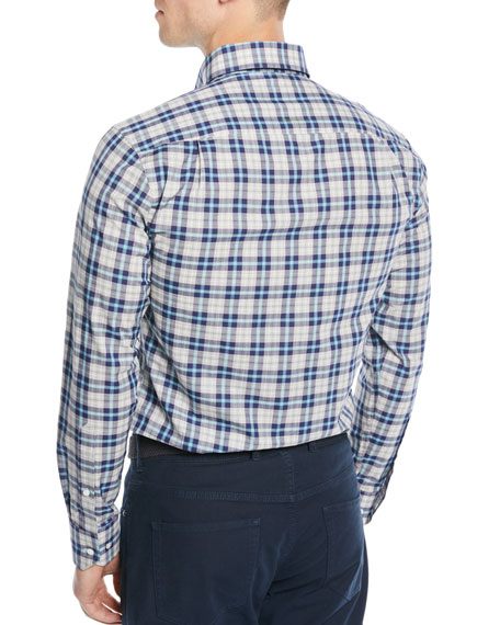 Men's Kairos Melange Check Sport Shirt