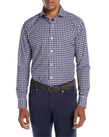 Men's Boucle Gingham Sport Shirt