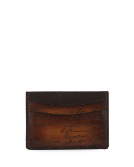 Men's Scritto Leather Card Case