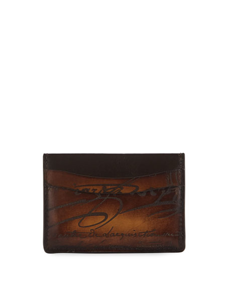 Berluti Men's Scritto Leather Card Case