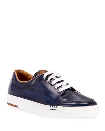 Men's Playtime Leather Low-Top Sneaker