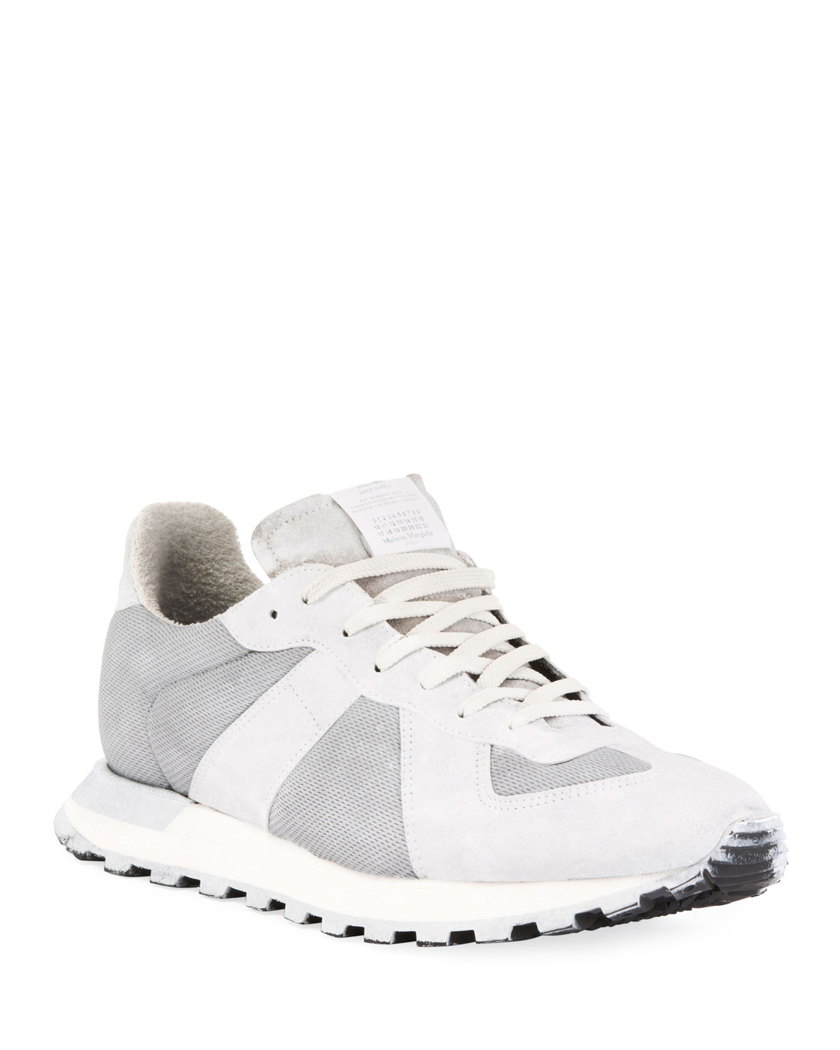 Maison Margiela Men's Replica Sneakers Runner Leather & Suede Sneakers Replica 68132b