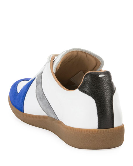 Men's Replica Colorblock Leather Low-Top Sneakers
