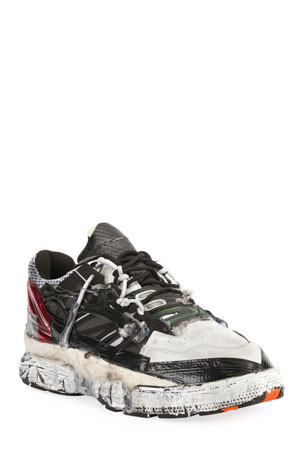 Maison Margiela Men's Colorblock Fusion Leather Trainer Sneakers