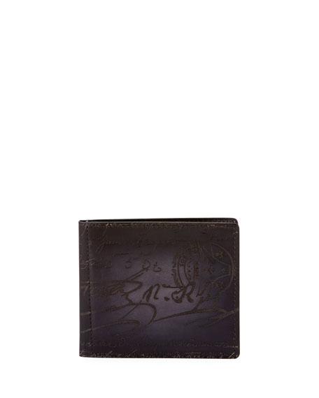 Berluti Men's Nero Scritto Clip Bifold Wallet