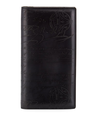 Men's Ebene II Scritto Leather Long Wallet