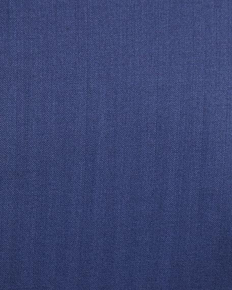 Men's Two-Piece Herringbone Super 180s Wool Suit