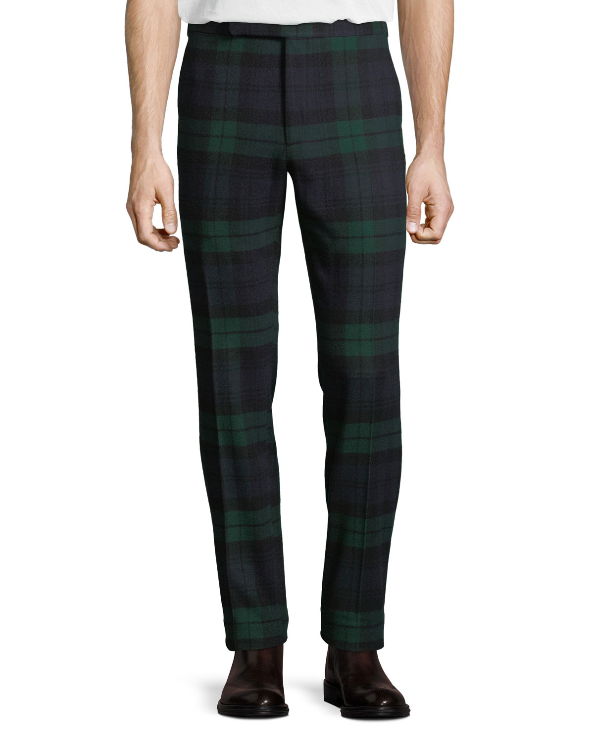 Ralph Lauren Men's Tartan Plaid Side-Strip Pants