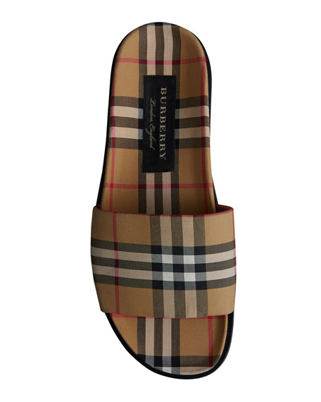 Men's Ashmore Check Slide Sandal