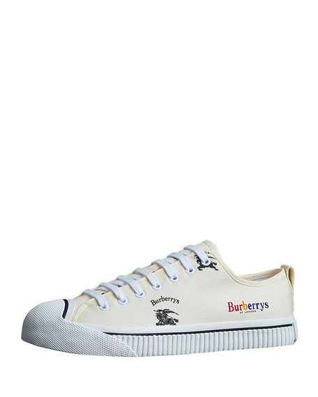 Burberry Men's Kingly Low-Top Logo Sneakers