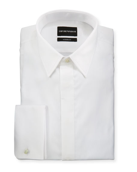 Emporio Armani Men's Modern Fit Basic Tuxedo Shirt