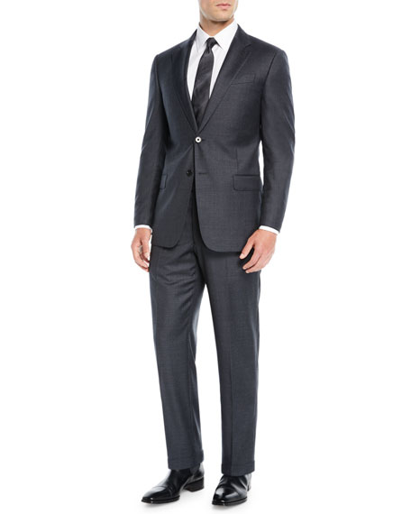Men's Mini Houndstooth Two-Piece Suit
