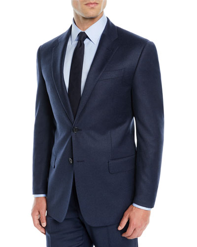 Men's High Wool Flannel Two-Piece Suit