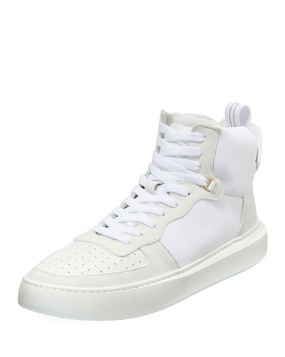 Men's Uno Basket Leather High-Top Sneakers