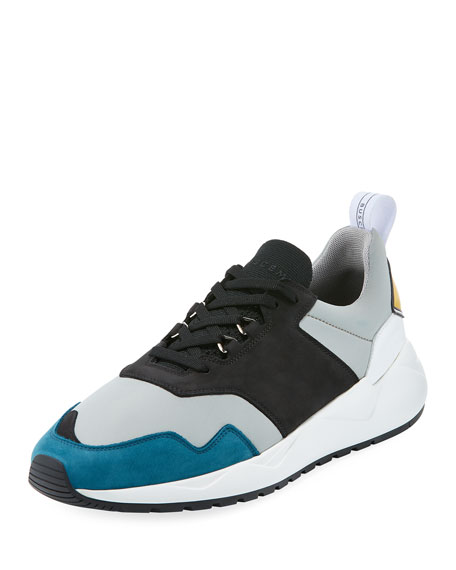 BUSCEMI Men'S Tricolor Ventura Runner Sneakers in Black
