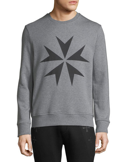 Neil Barrett Men's Military Star Sweatshirt