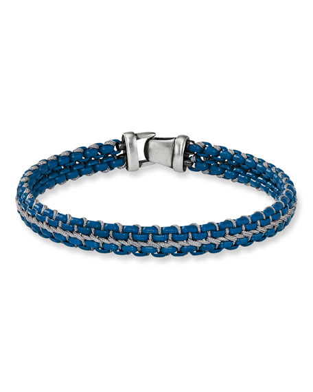 David Yurman Men's 10mm Woven Box Chain Bracelet,