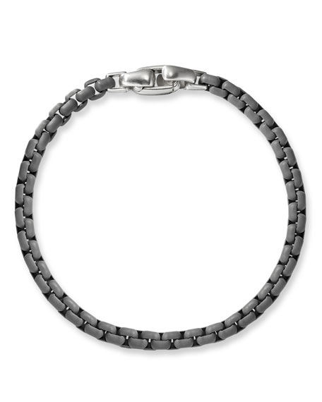 Shop David Yurman Mens Acrylic Coated Box Chain Bracelet Gray