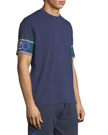 Men's Logo-Cuff Sport T-Shirt