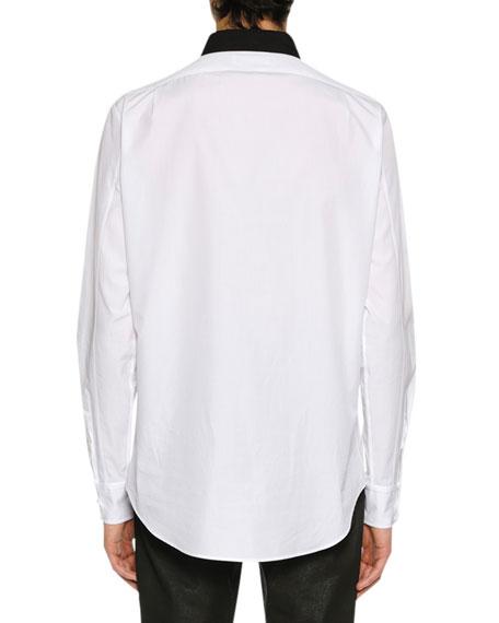 Men's Colorblock Paneled Button-Front Shirt