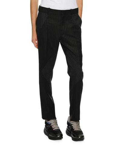 Men's Pinstriped Pieced Suit Pants