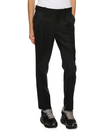 Men's Pinstriped Pieced Suit Pants