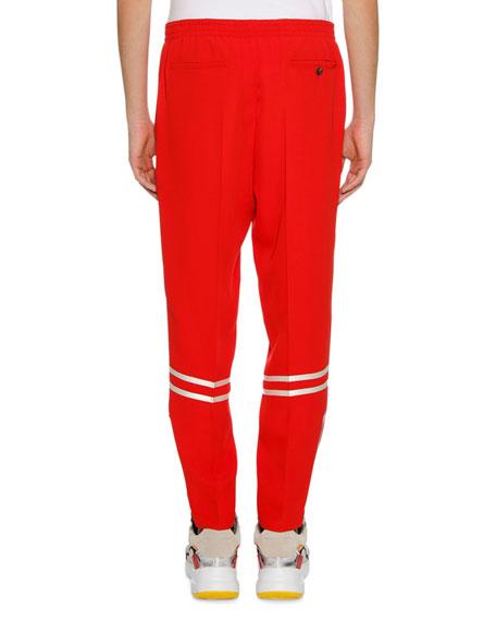 Men's Crepe Straight-Leg Pants