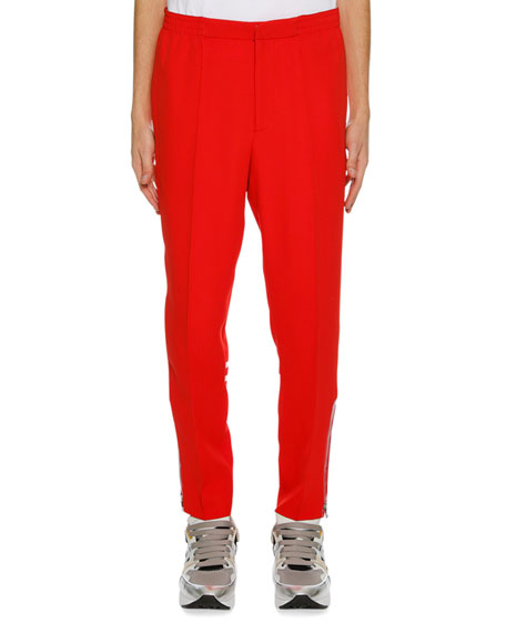 Alexander McQueen Men's Crepe Straight-Leg Pants