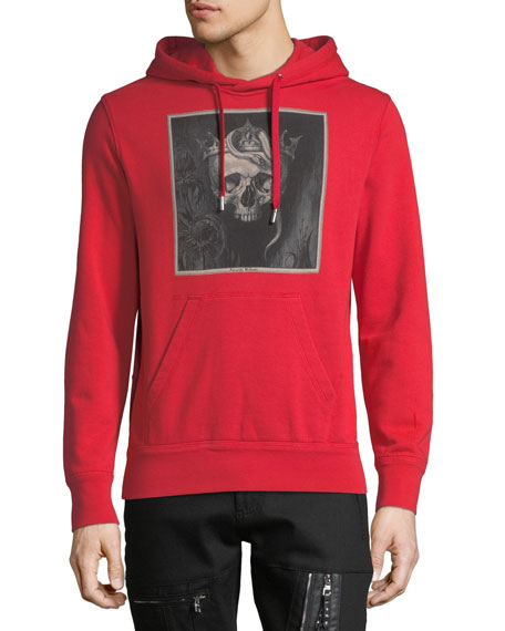 Men's Skull Graphic-Print Hoodie Sweatshirt
