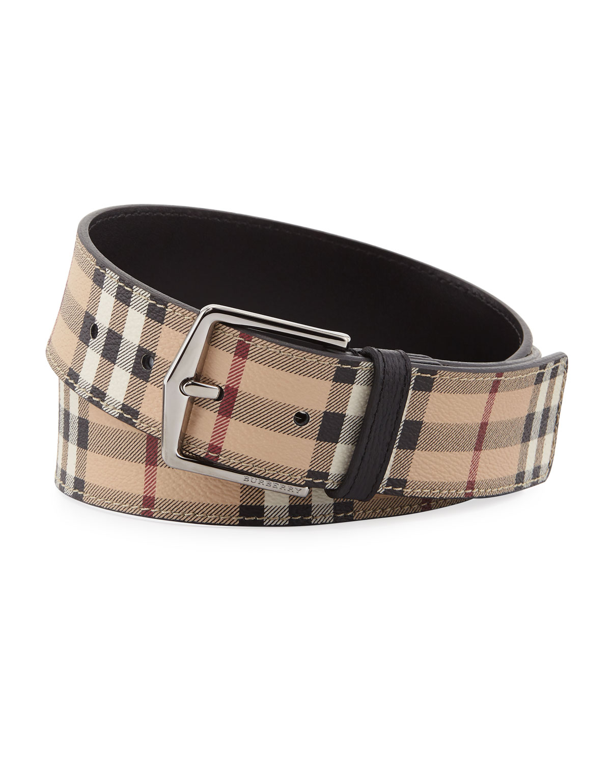 f5ef57c4a5f8 Burberry Men s Joe Haymarket Check Belt