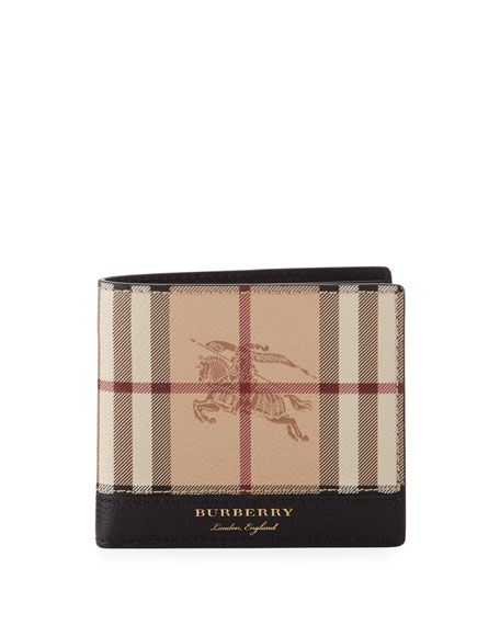 Burberry Men's Haymarket Check Bifold Wallet