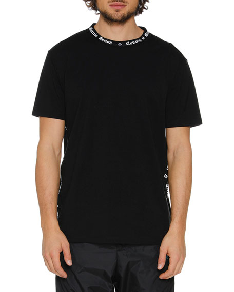 Men's Typographic-Collar T-Shirt