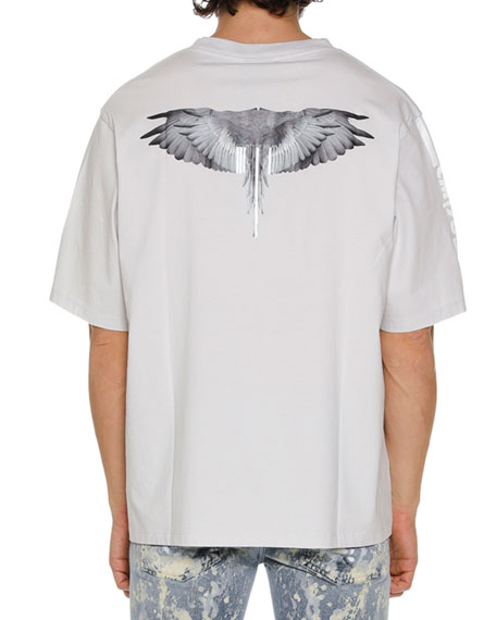 Men's Wings Barcode Graphic T-Shirt