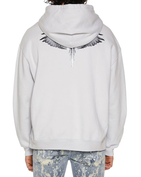 Men's Wings Barcode Zip-Front Hoodie