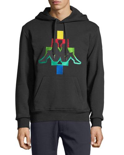 Men's Kappa Multicolor Logo Hoodie Sweatshirt