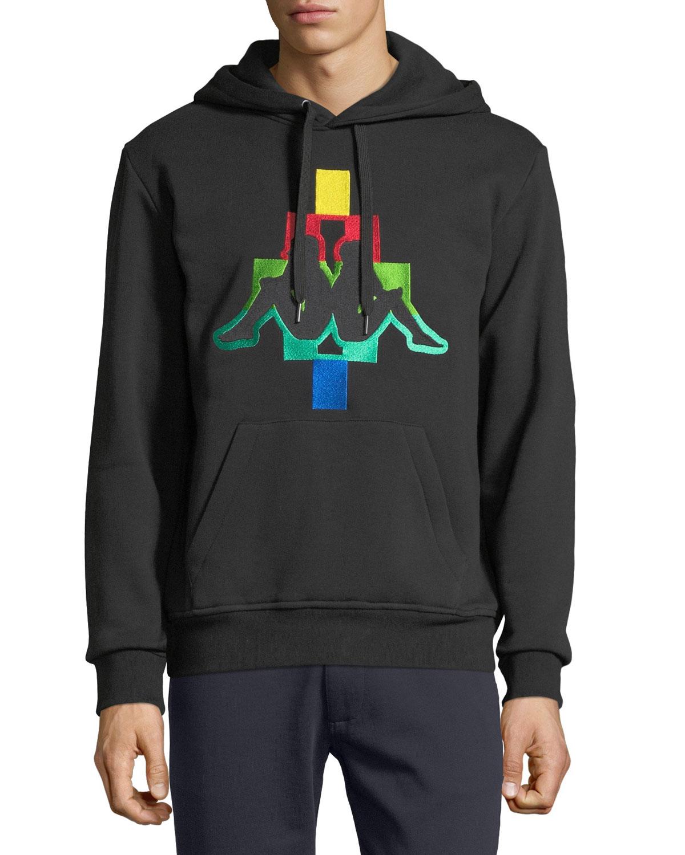 60bf3a4022ad Marcelo Burlon Men s Kappa Multicolor Logo Hoodie Sweatshirt ...