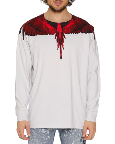 Men's Wings Graphic Long-Sleeve T-Shirt