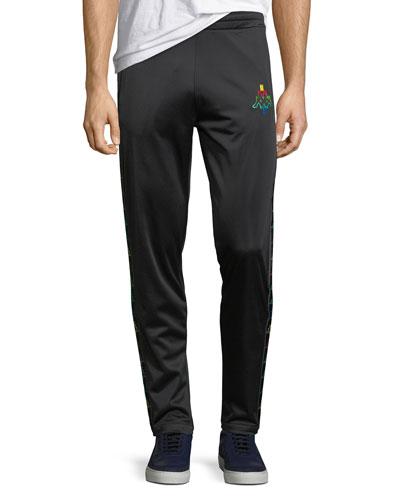 Multicolor Kappa Straight-Leg Jersey Sweatpants
