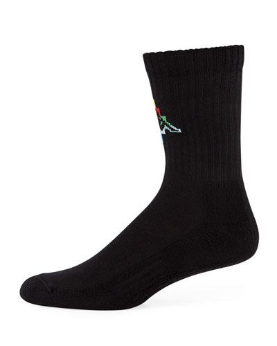 Men's Kappa Multicolor-Logo Short Socks