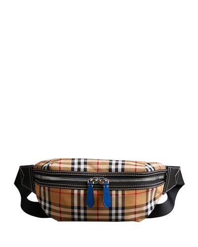 Men's Sonny Check Crossbody Belt Bag/Fanny Pack