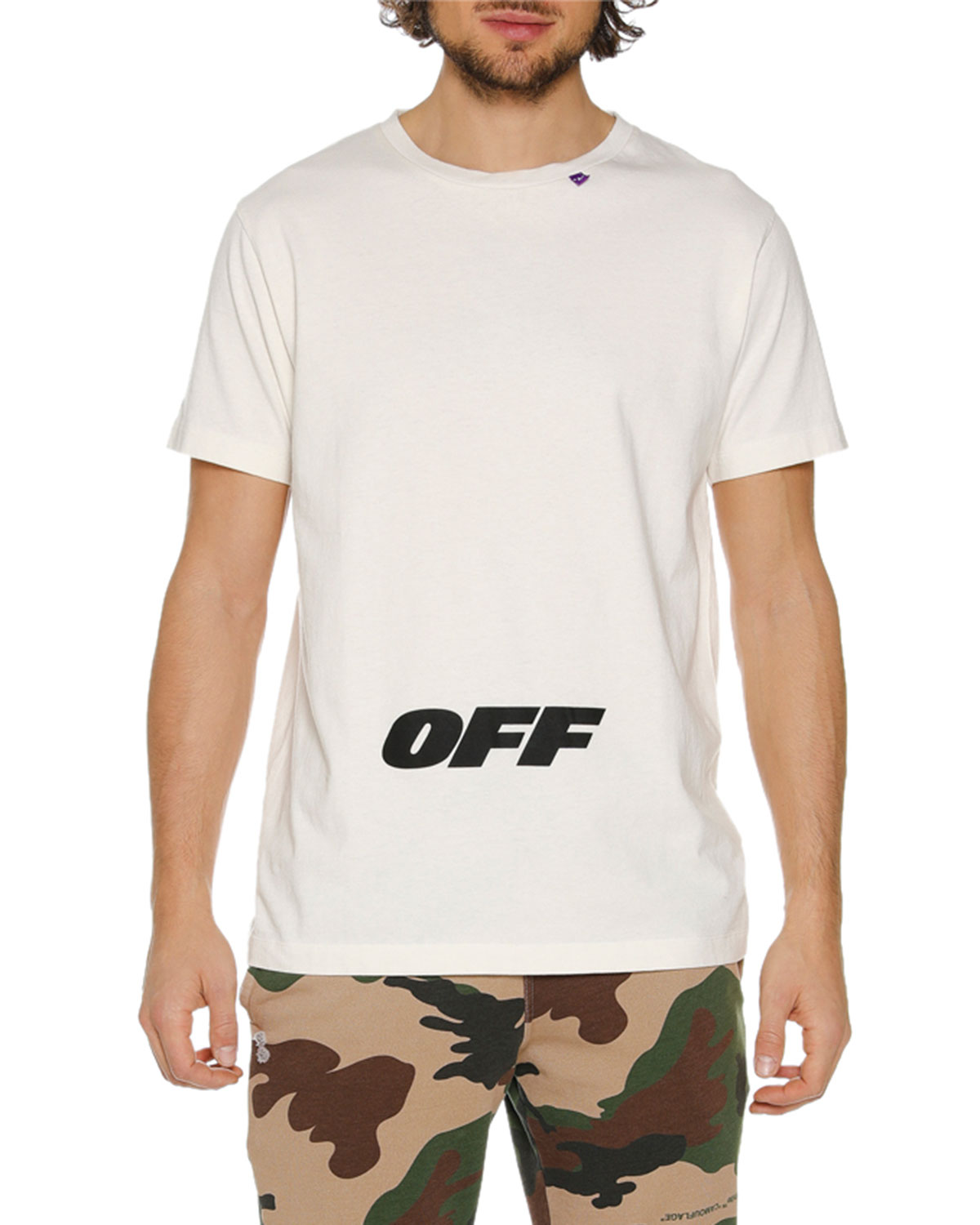 Off White Mens Wing Off Graphic Slim T Shirt Neiman Marcus