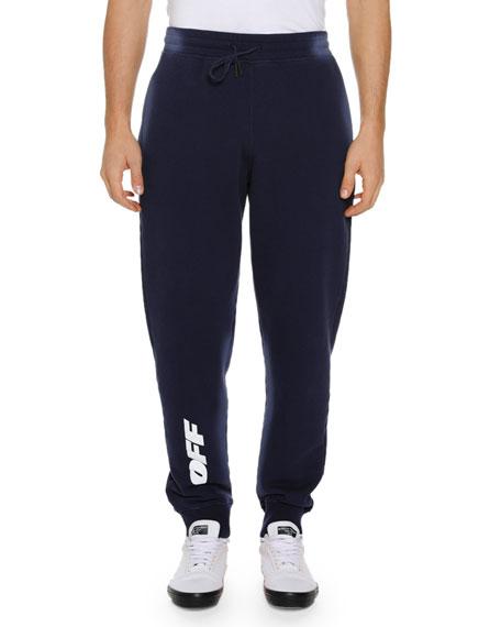 Off-White Men's Wing Off Cotton Sweatpants