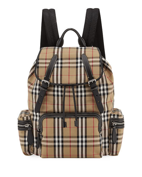 Men's Rucksack Signature Check Backpack