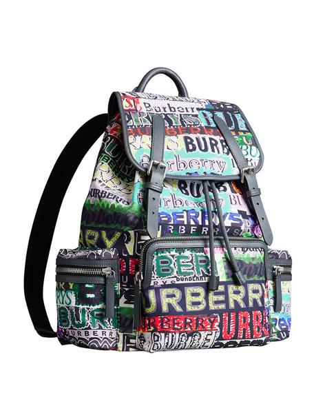 Men's Multicolor Logo Rucksack Backpack